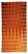 Digital Copper Plate Abstract Bath Towel