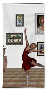 Digital Exhibition _dancing Girl 221 Bath Towel