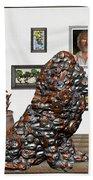 digital exhibition _Modern Statue of scrap Bath Towel