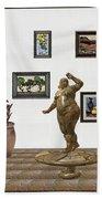 digital exhibition  Statue 25 of posing lady  Bath Towel