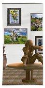 digital exhibition _Statue 4 of posing girl 221 Bath Towel