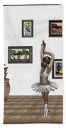 Digital Exhibition_my Dancing Girl Bath Towel