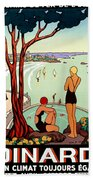 Dinard, French Riviera, Two Swimmers  Bath Towel