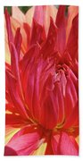Dinner Plate Dahlia Flower Art Print Orange Baslee Troutman Bath Towel