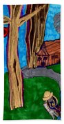 Dinner In The Woods Bath Towel