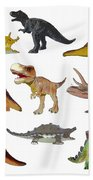 Dino Prehistoric Animals Bath Towel by Miroslav Nemecek