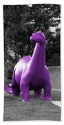 Dino Selective Coloring In Ultra Violet Purple Photography By Colleen Bath Towel