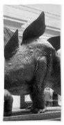 Dinosaur Exhibit, 1917 Bath Towel