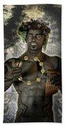 Dionysus God Of Grape Bath Towel