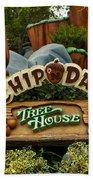 Disneyland Chip And Dale Signage Bath Towel