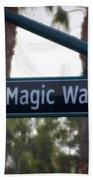 Disneyland Magic Way Street Signage Bath Towel