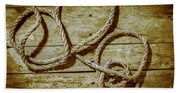 Dispatched Ropes And Voyages Bath Towel