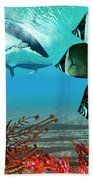 Diving Whales Hand Towel