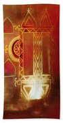 Diwali Card Lamps And Murals Blue City India Rajasthan 2g Hand Towel
