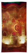 Diwali Card Lamps And Murals Blue City India Rajasthan 2h Hand Towel