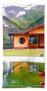 Djg-0004 Pavilion View Of Teahouse Bath Towel