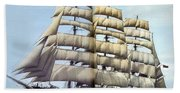 dk tall ships kruzenshtern barque lyr 1926 full D K Spinaker Bath Towel