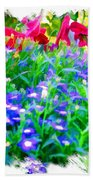 Do-00221 Flowers Bath Towel
