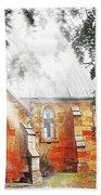 Do-00264 Ghostly Look Of St John Church Bath Towel