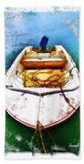 Do-00277 Boat In Hardys Bay Bath Towel
