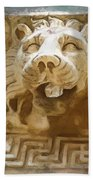 Do-00313 Lion Water Feature Bath Towel