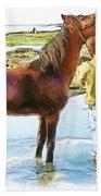 Do-00421 Washing Horse In Mina Bath Towel