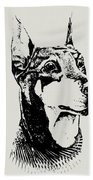 Doberman Bath Towel