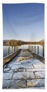 Dock In A Lake, Cumbria, England Bath Towel