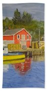 Docks Of Northwest Cove - Nova Scotia Bath Towel
