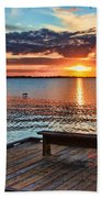 Dockside Sunset By H H Photography Of Florida Bath Towel