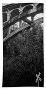 Dog Creek Bridge Railroad  Crossing Bath Towel