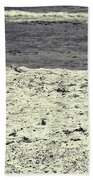 Dog Frolicking On A Beach Hand Towel