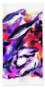 Doggies And Dolphins Bath Towel