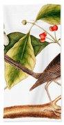 Dogwood  Cornus Florida, And Mocking Bird  Bath Towel
