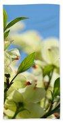 Dogwood Flowers Art Prints Canvas White Dogwood Tree Blue Sky Bath Towel