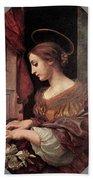 Dolci Carlo St Cecilia At The Organ Bath Towel