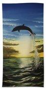Dolphin Jump Bath Towel