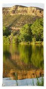 Dome Lake Sunset Bath Towel