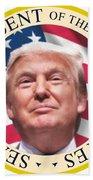 Donald Trump Us President United States Seal  Bath Towel