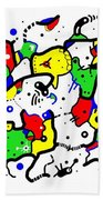 Doodle Abstract Bath Towel