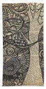 Doodle Bird Hand Towel