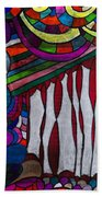 Doodle Page 6 - Bones And Curtains - Ink Abstract Bath Towel