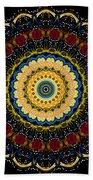 Dotted Wishes No. 6 Mandala Bath Towel
