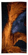 Double Arch And The Milky Way - Utah Bath Towel