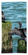 Double-crested Cormorants Bath Towel