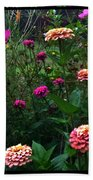 Double Framed Floral Hand Towel