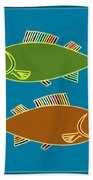 Double Rainbow Fin Fish Bath Towel by Joy McKenzie