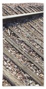 Down The Railroad Bath Towel