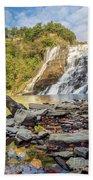 Downstream From Ithaca Falls Bath Towel