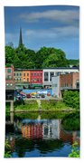 Downtown Augusta, Maine Bath Towel